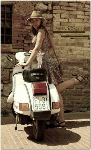 Vespa girl by direct evul