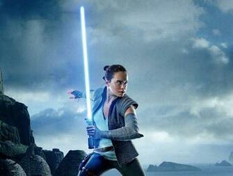Rey in Star Wars The Last Jedi Wallpaper