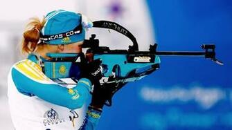Full HD Wallpaper biathlon khrustaleva elena rifle Desktop