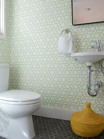 Canovas Trellis Wallpaper yellow woven basket geometric wallpaper