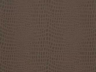Delivery on Strike Espresso Brown Crocodile Skin Wallpaper