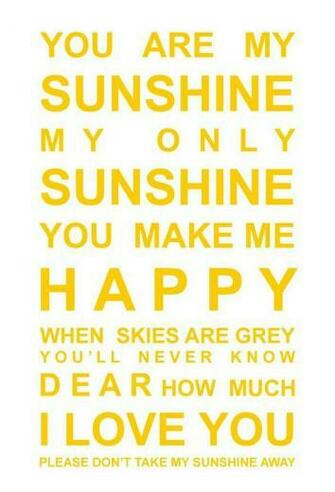 could wallpaper the nursery in you are my sunshine prints