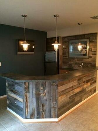 Reclaimed Weathered Wood Wood Walls Planking and Basements