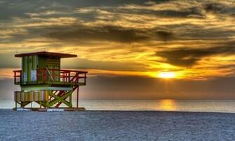 South beach miami usa evening sunset sun sky clouds sea ocean