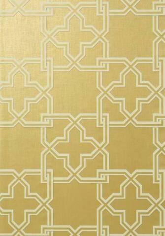 gold Pierson is a large scale 2 color interlocking trellis pattern