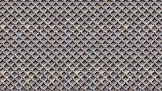 Metal Trellis grid like digital home wallpaper M8968