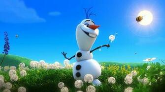 Funny Olaf Snowman in Summer HD Wallpaper Download Cartoon Wallpaper