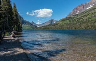 Wallpaper glacier national park montana usa sky mountains trees