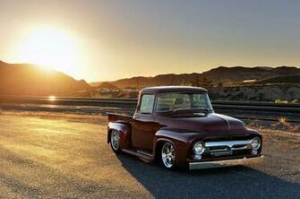 1956 Ford F 100 custom hot rod rods pickup lowrider f100 wallpaper