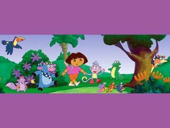 Dora the Explorer in the forrest Wallpaper   Dora the