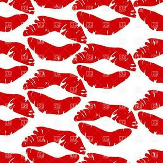 Seamless background with kisses backgrounds textures clip art