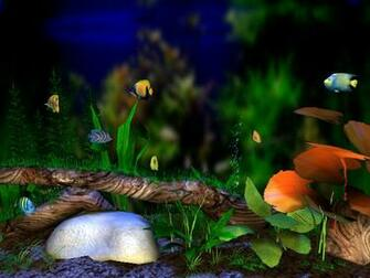 3D Bungalow Aquarium screensaver   the beautiful large aquarium