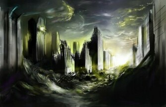 Destroyed City by Zasalamell