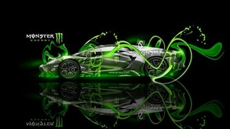 Monster Energy Lamborghini Aventador Fantasy Plastic Car 2013 el