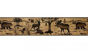 Animal Borders Deer Moose Animals Wallpaper Border B10030703