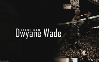 Dwyane Wade the Flash Man Fast and Talented   NBA Image as Computer