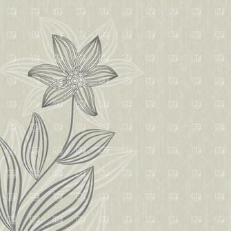 Gray flower on grunge beige background 23801 download royalty free