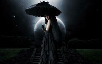 Dark   Gothic Woman Goth Dark Umbrella Wallpaper