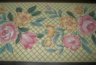Cottage Trellis Lattice Yellow Wallpaper Border 5163 Brown eBay