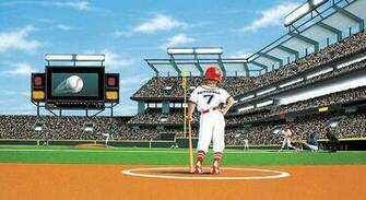 MLB Baseball Home DecorBatter Up Baseball Stadium Wall Mural 5814781