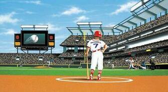 MLB Baseball Home DecorBatter Up Baseball Stadium Wall Mural 5814781