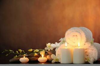 Wallpaper spa spa stones candles flowers white orchid spa spa