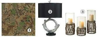 Realtree   leaf camo wallpaper Linens n Things   tree branch lamp