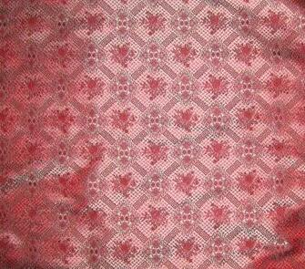 Red and Blue Victorian Wallpaper Silk Brocade Fabric by silkfabric