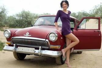Girl and red car wallpapers and images   wallpapers pictures photos