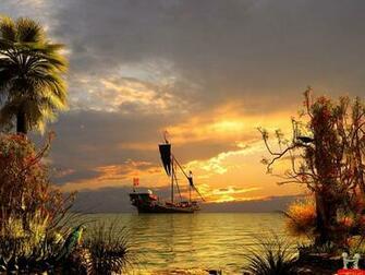 Beautiful 3D Pirates Ship Wallpaper E Entertainment