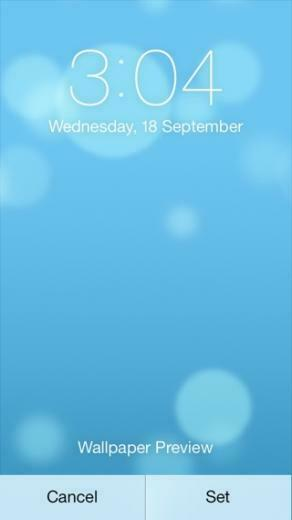 How to setup dynamic wallpapers on iOS 7