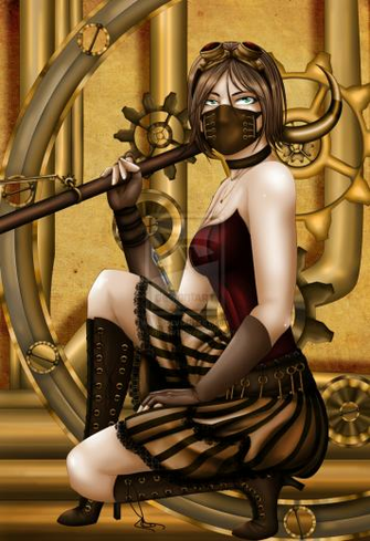 Pin Steampunk Girl Outfit Claws Wallpapers Fantasy