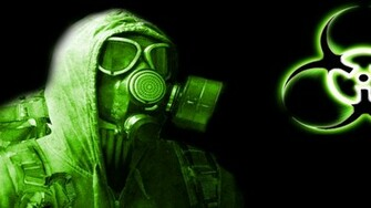 Green Biohazard Symbol 3d And Cg Wallpaper Desktop