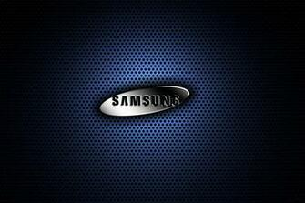 Samsung Blue Metal Logo Wallpaper HD TechFreaksNL