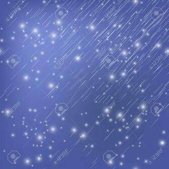 White Falling Star On Blue Night Sky Background Shooting Stars