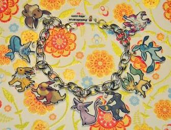 Updated Eevee Evolution Charm Bracelet Pokemon by kouweechi on