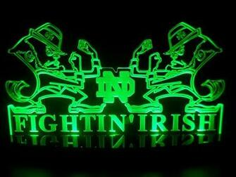 Notre Dame Fighting Irish Led Desk Lamp Night Light Bedroom Game Room