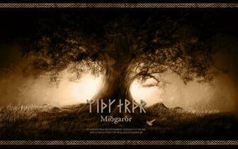 Midgard   Yggdrasil   Wallpaper by PlaysWithWolves