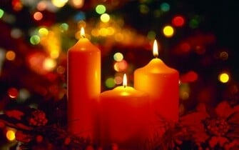 Beautiful Christmas Candles computer desktop wallpaper