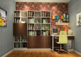 Study decorating ideas flower wallpaper unit 3D House
