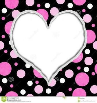 Pink Heart And Fabric Black