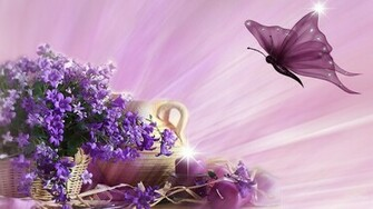 Spring Flowers And Butterflies Wallpapers The Art Mad Wallpapers