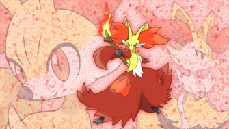 Fennekin Braixen and Delphox Wallpaper V2 by Glench on