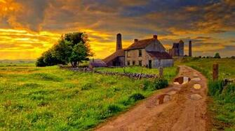 Old Farm After A Storm Hdr Hd Wallpaper Wallpaper List
