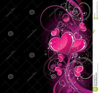 Black And Pink Hearts Wallpaper Pink hearts on black