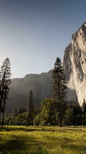 Sunset lighting up El Capitan HD Wallpapers 4K Wallpapers