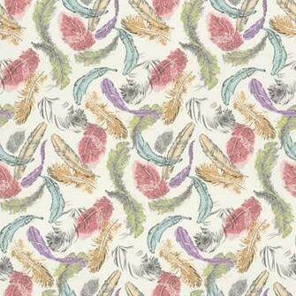 Bird Feathers Pastel Motif Pattern Multi Coloured Wallpaper 712988