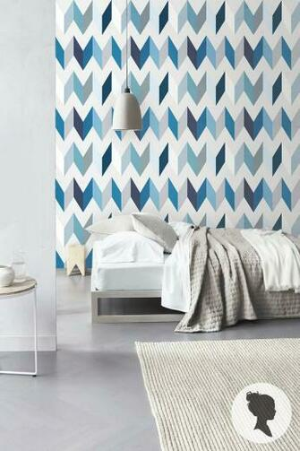 Peel and Stick Chevron Pattern Removable Wallpaper by Livettes