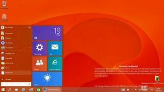 Windows 9 Start menu with live tiles