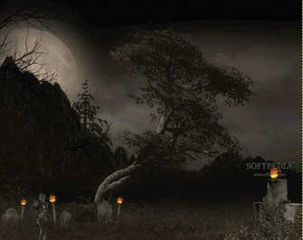 Halloween Tree Animated Wallpaper 1